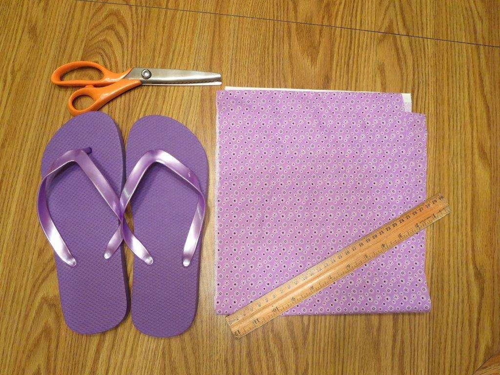 DIY Easy Rag or Ribbon Tie Decorate Your Own Flip Flops